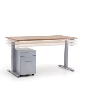 Rectangular Oblique Manually Height Adjustable Desk
