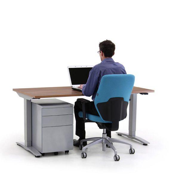 Rectangular Oblique Manually Height Adjustable Desk