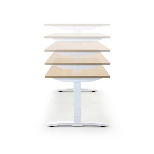 Rectangular Oblique Electrical Height Adjustable Desk