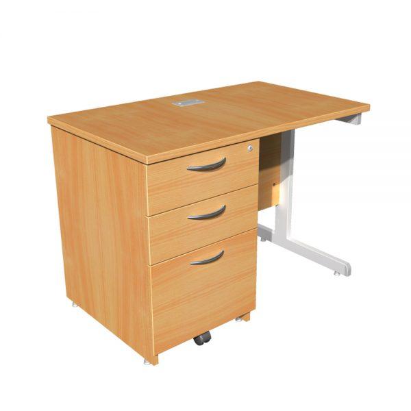 Return Unit Focus 100 Cantilever Desk